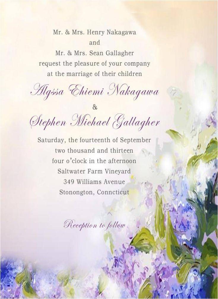 creative wedding response cards%0A Romantic Watercolor Lavender Fall Wedding Invitation Card HPI