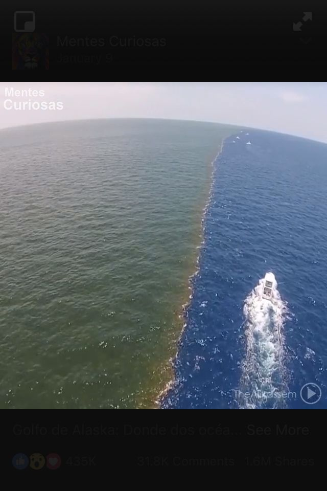 Gulf Of Alaska Where Two Oceans Meet Two Oceans Meet