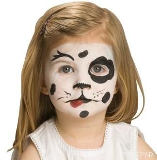 Malowanie twarzy - wzory i pomysły - Dalmatyńczyk - zdjęcia - galeria « maluchy.pl