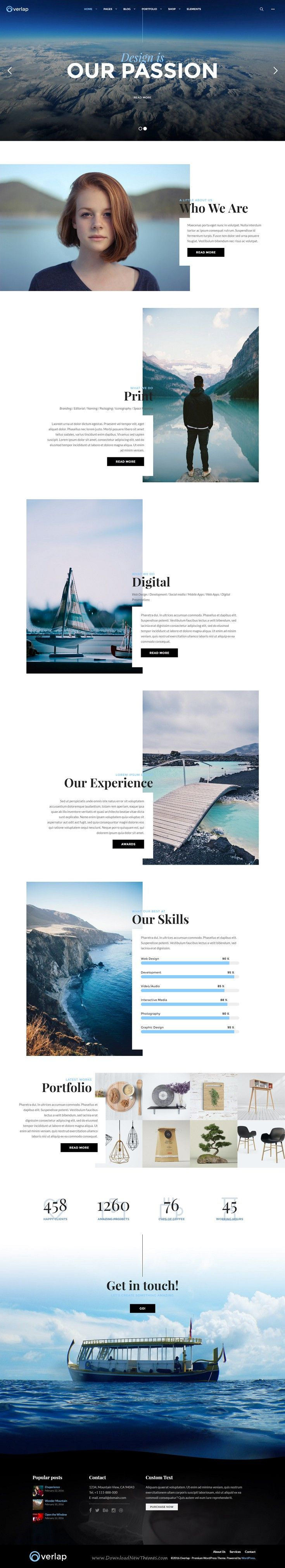 Overlap comes with unique layout designs for showing your creative portfolios…