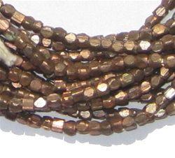 250 granos de cobre envejecidos - facetados cubo granos - granos metálicos - cobre espaciador - joyería que hace fuentes (MET-USU-CPR-145) de corte diamante