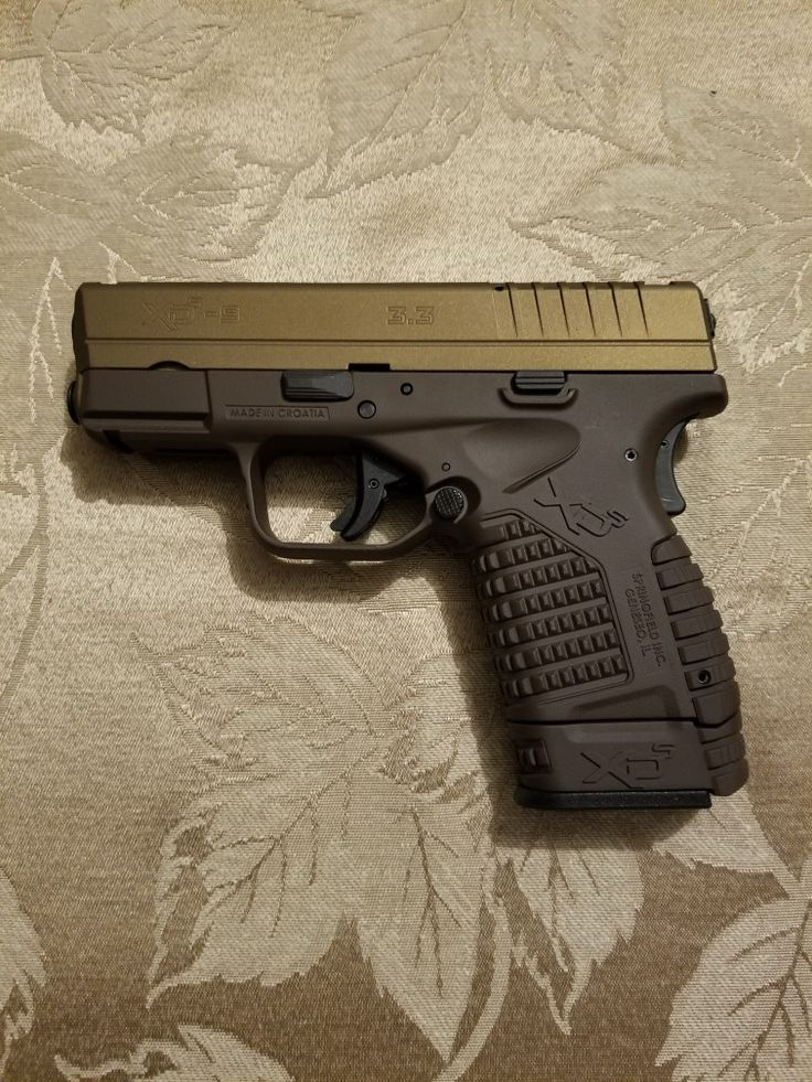 Springfield xds 9mm Cerakoted in Chocolate Brown and Burnt Bronze