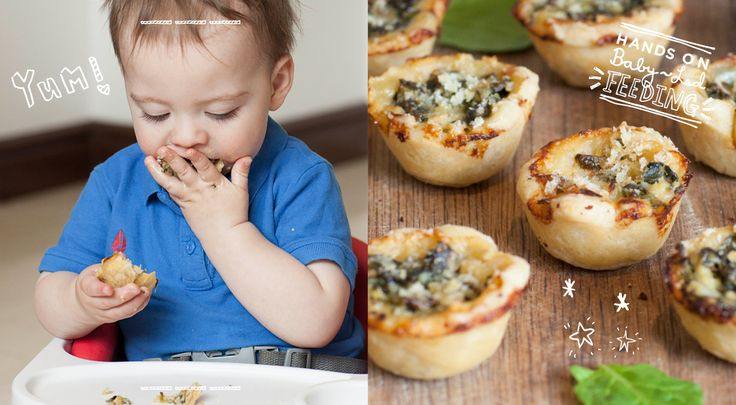Spinach and Cream Baby Pies are the ideal food for Baby Led Weaning. They are perfect for those little hands and full of yummy goodness.