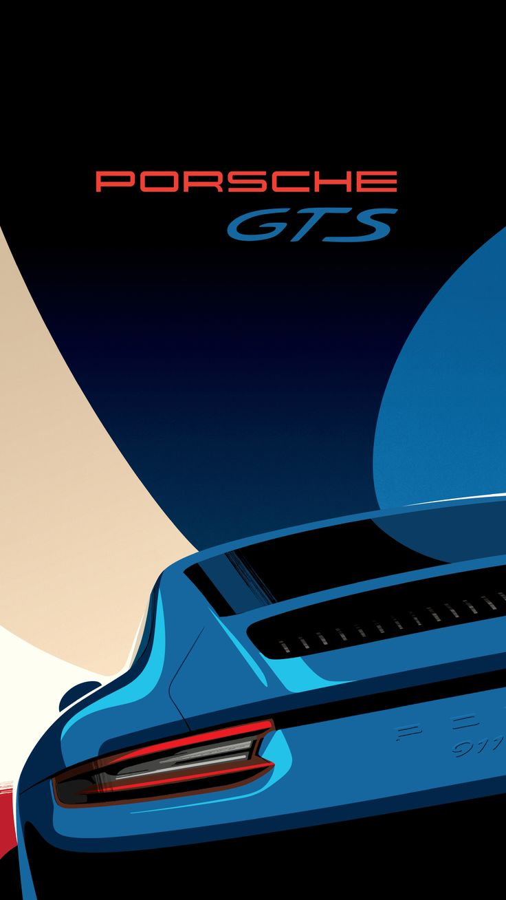 Porsche 991.2 GTS Retro looking poster designs by Porsche to attract a new generation of fans on Instagram and Mobile.
