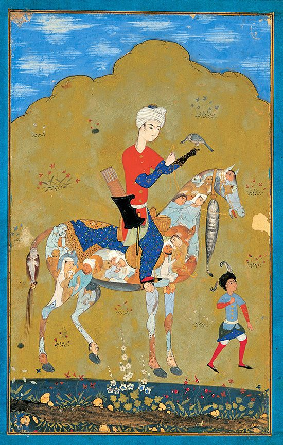 From an exhibition of Persian miniature paintings organized in 2005 by the Tehran Museum of Contemporary Art