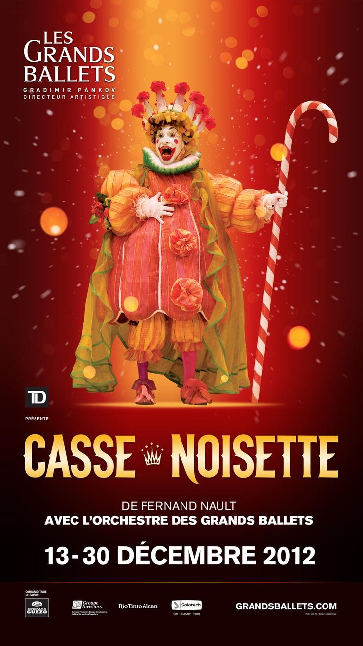 CASSE-NOISETTE Du 13 au 30 décembre 2012. Créée en 1964 pour Les Grands Ballets Canadiens de Montréal, l'adaptation chorégraphique du conte d'Hoffmann par le Québécois Fernand Nault (1920-2006) est l'une des plus belles. Interprétée par une centaine de danseurs dans des décors somptueux et des costumes scintillants. Chaque année, une centaine d'enfants sont sélectionnés pour interpréter les rôles de Souris, de Rats, de Rennes, de Moutons, d'Orientales et, bien sûr, de Clara et de Fritz.