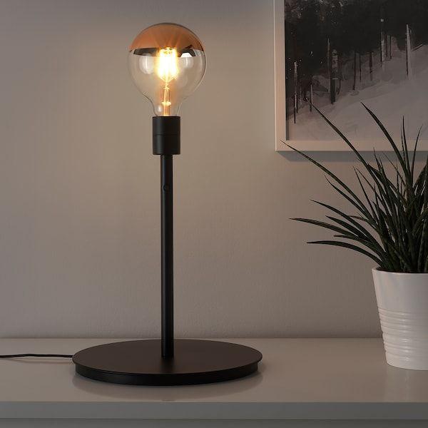 Skaftet Tischleuchtenfuss Schwarz Ikea Deutschland Lampe Lampentisch Led Lampe