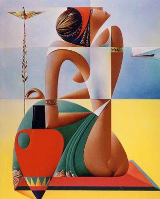 Georgy Kurasov ~ Cubist painter