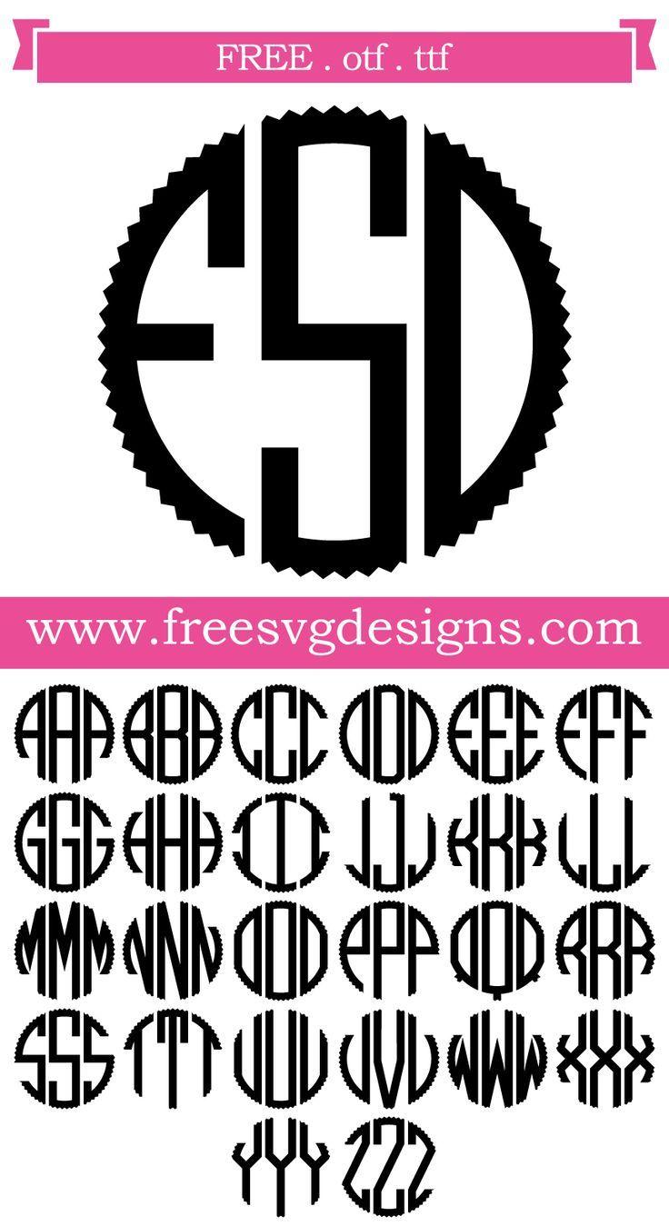 Pin On Free Monogram Fonts