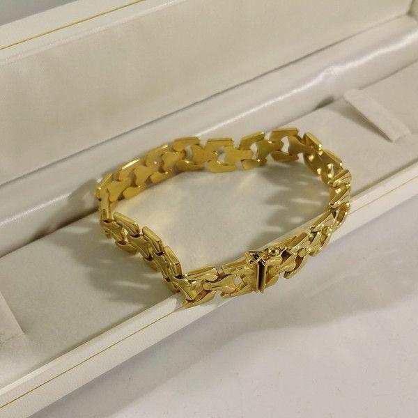 Vintage Armschmuck - Armband Gliederarmband Gold 585 edel Vintage GA119 - ein Designerstück von Atelier-Regina bei DaWanda