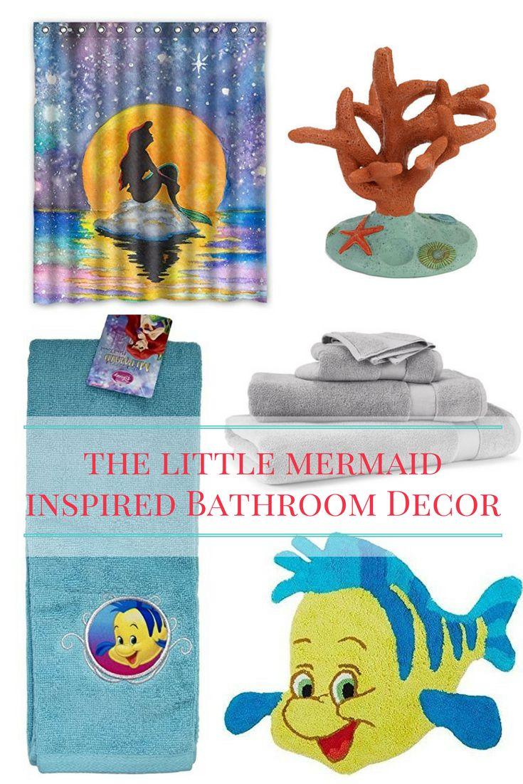 Little mermaid bathroom accessories - Little Mermaid Inspired Bathroom Decor Running On Disney