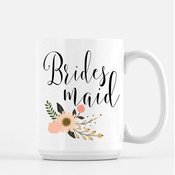 Bridesmaid Coffee Mugs Gifts for Bridesmaids by TheSisterStudio
