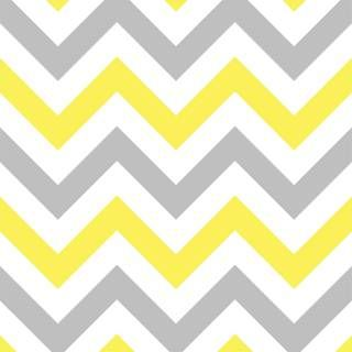 Papel de Parede Chevron Amarelo e Cinza | Redecorei