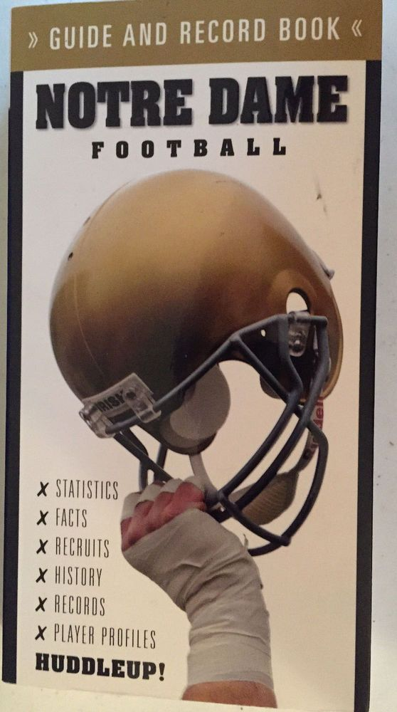 Notre Dame Football Guide and Record Book 2009 NEW