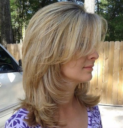 medium layered haircuts for thin hair 70 brightest medium layered haircuts to light you up 3991 | 1fe26f6a65b3f8917083806f818c2c74 mid length hairstyles hairstyles