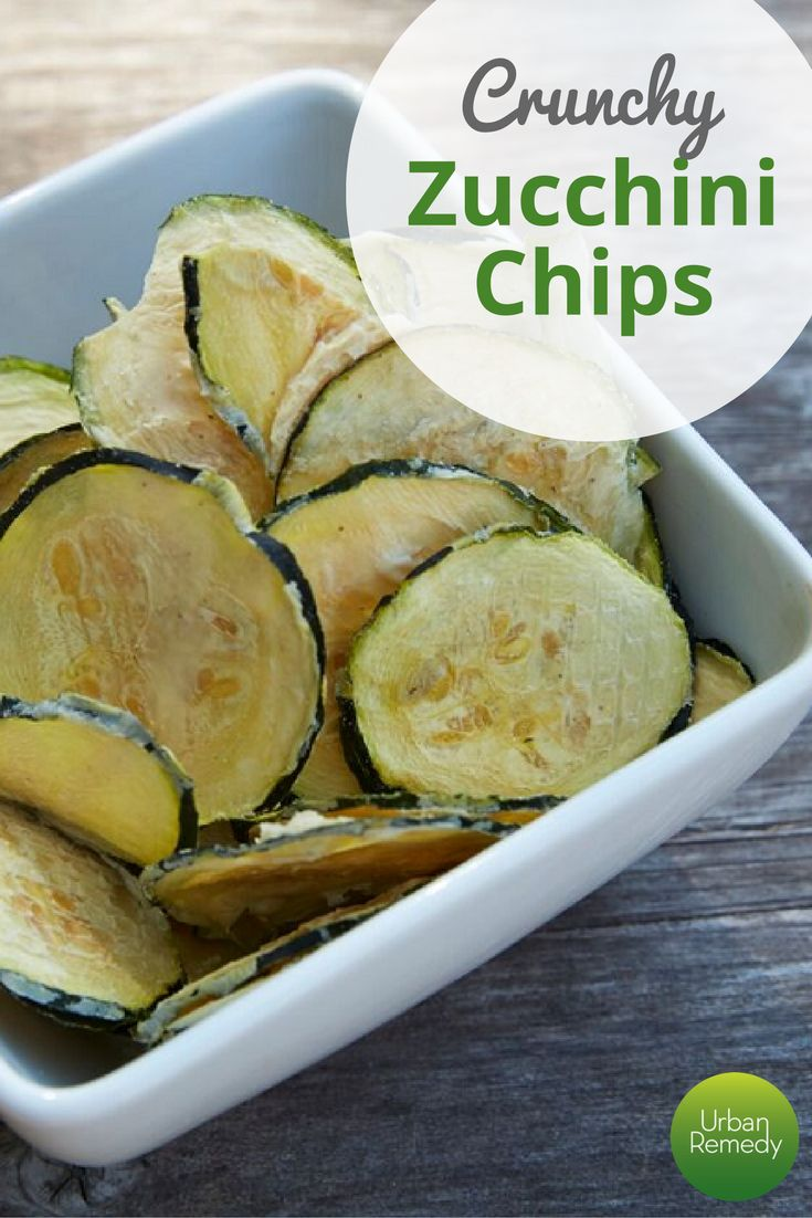 Crunchy Baked Zucchini Chips | A simple, healthy, tantalizing snack ...