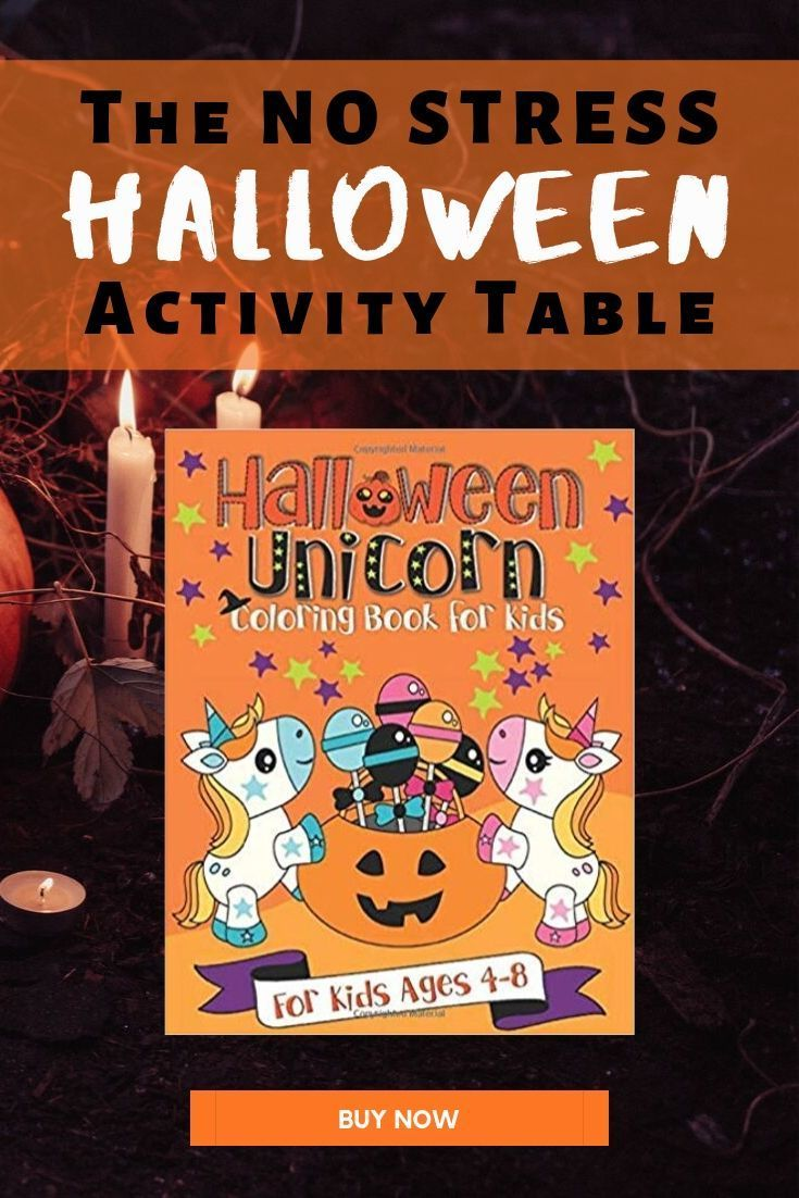 This cute unicorn Halloween coloring book is perfect for ...