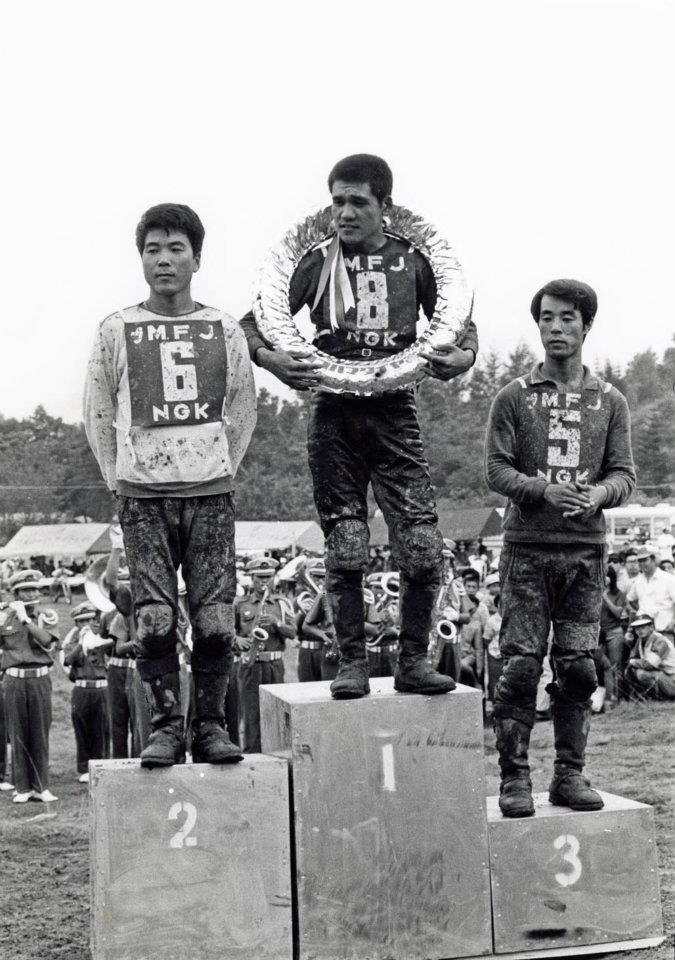 1968年 日本グランプリ 北海道(テイネ) 優勝 #8 鈴木忠男 2位 #6 山本 隆 3位 星野一義