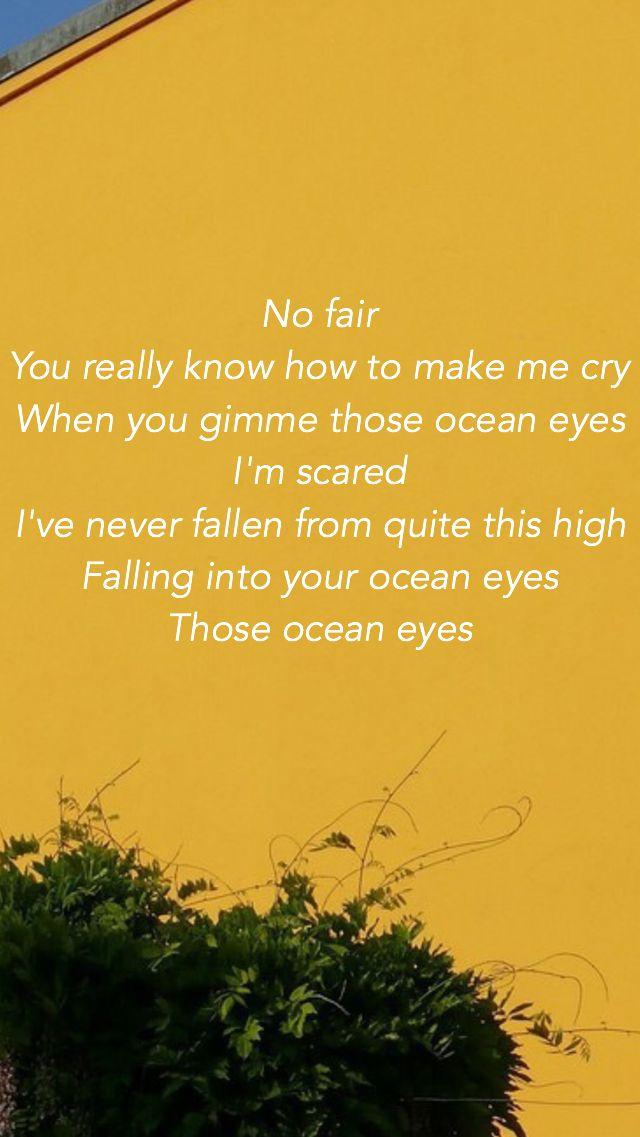 Ocean Eyes Billie Eilish Ocean Eyes Lyrics Billie Eilish Ocean