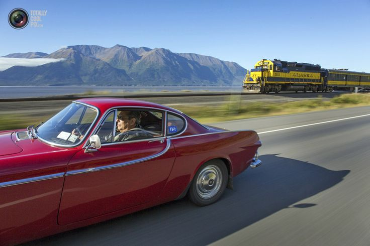 Irv Gordon is shown in his 1966 Volvo P1800 on Alaska Highway 1 in Alaska September 18, 2013 in this handout photo provided by Volvo Cars of...