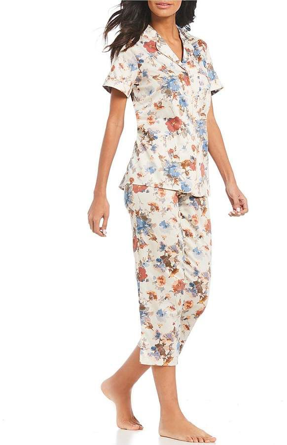 Cabernet by Sleep Sense Floral-Print Sateen Pajama Set  bf8720984