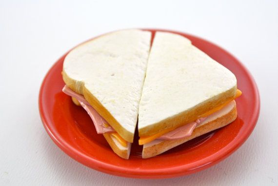 Ham and Cheese Sandwich Food for American Girl Dolls by pippaloo