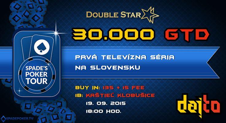 Spade Production v spolupráci s DoubleStar ti predstavujú 1.televízny pokrový turnaj na Slovensku: SPADE´S POKER TOUR.