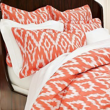 ikat comforters orange | Trinity Uptown Window Coverings: Fabric Fascination: Ikat!