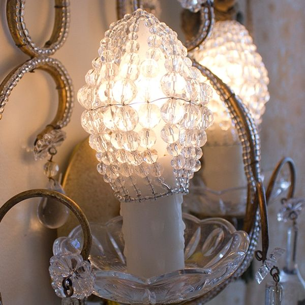 28 best l u z images on pinterest lamps lightbulbs and bulbs rachel ashwell shabby chic couture beaded bulb cover uses clear czech cut glass beads to cover chandelier light bulbs aloadofball Image collections
