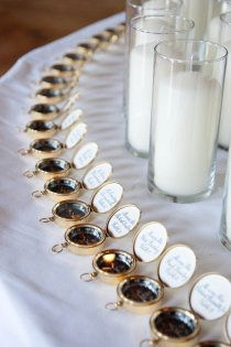 compass favor & seating card; great nautical wedding idea
