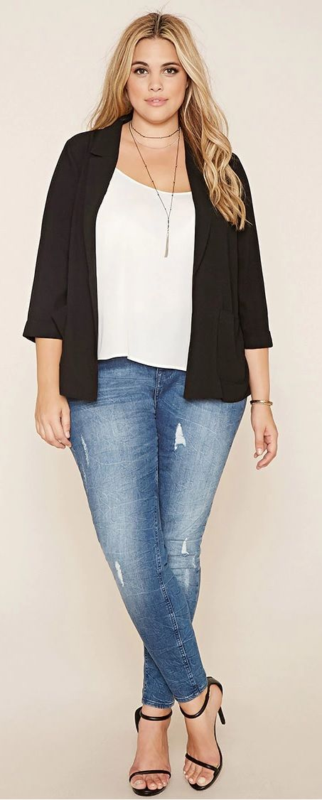 Plus Size Collared Blazer http://www.rencontres-rondes.com/?siteid=1713452