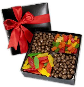 4 Cavity Gift Box filled with Assorted Mini Pretzels