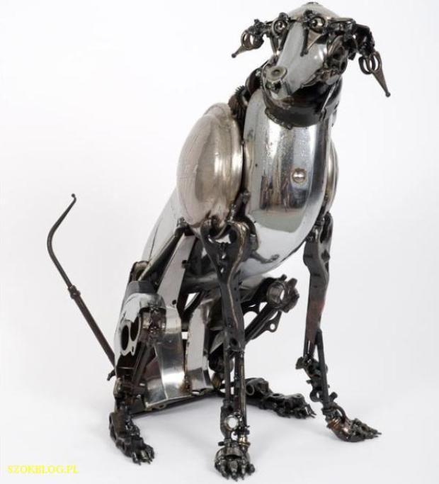 James Corbett rzeźby ze złomu