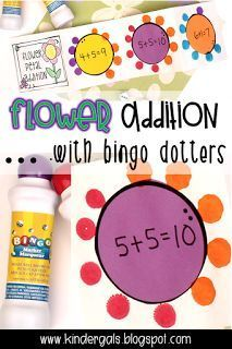 Three cheers for bingo dotters! Bingo dotters make a great, cheap alternative to paint! An added plus....they aren't messy! We recently us...