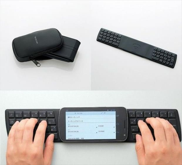 Simple Ideas That Are Borderline Brilliant ~ Foldable Full Size Key Board For Your Smart Phone ~ #MobileTech
