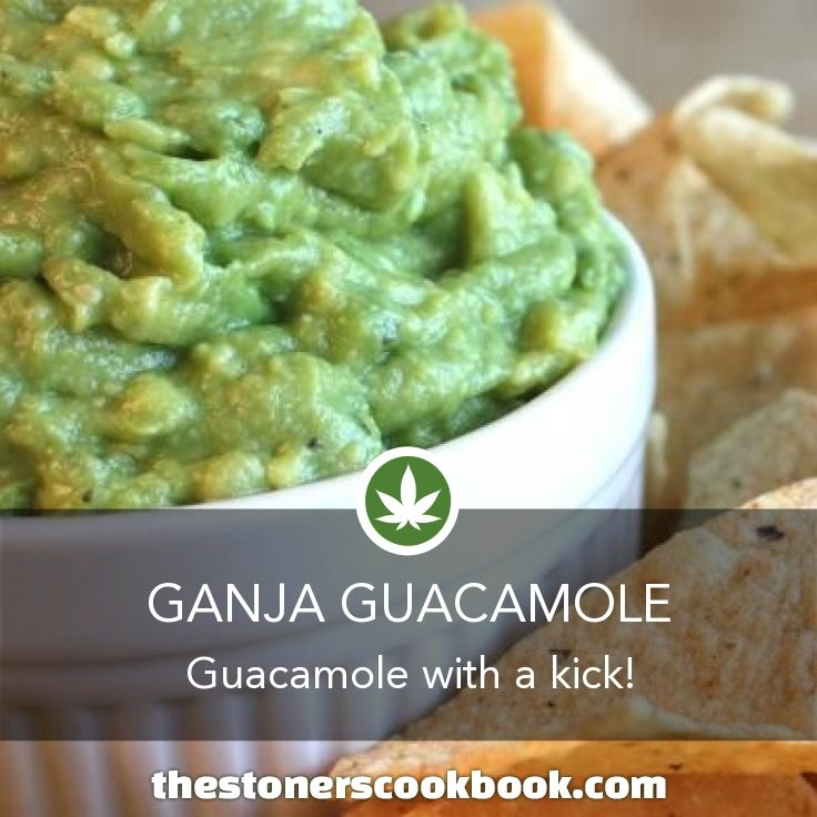 Ganja Guacamole from the The Stoner's Cookbook (http://www.thestonerscookbook.com/recipe/ganja-guacamole)