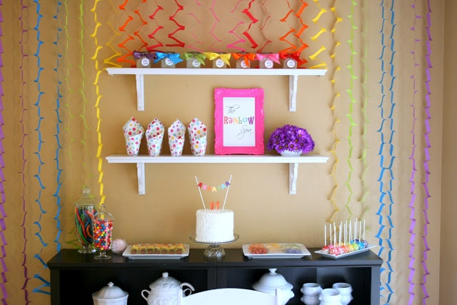 Great party ideas for a rainbow themed spa party!  Love it :)  Bunches and Bits: Rainbow Spa Birthday