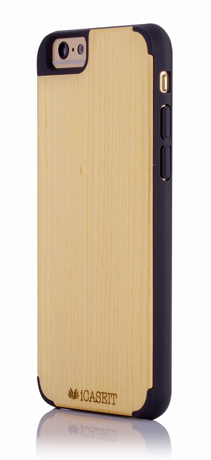 "Amazon.com: iCASEIT Wood iPhone Case - Genuinely Natural, Unique & Premium quality for iPhone 6 (4.7"" Display) - Maple / Black: Cell Phones & Accessories"
