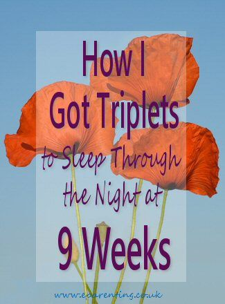 How I got Triplets to Sleep Through the Night at 9 Weeks. Alison Scott-Wright, maternity nurse, parental adviser and baby care consultant on how she got triplets sleeping through the night after only nine weeks. Amazing!