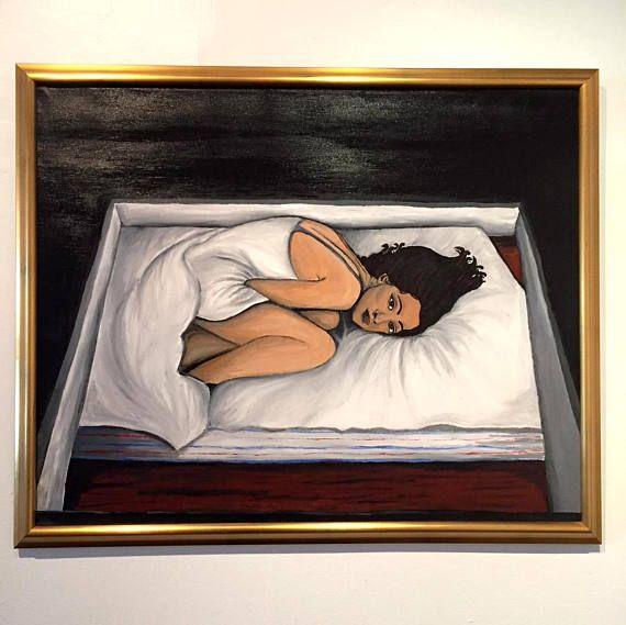 L'insomnie, par Rykarda Parasol / / huile sur toile