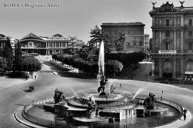 Piazza Esedra e Stazione Termini 1930