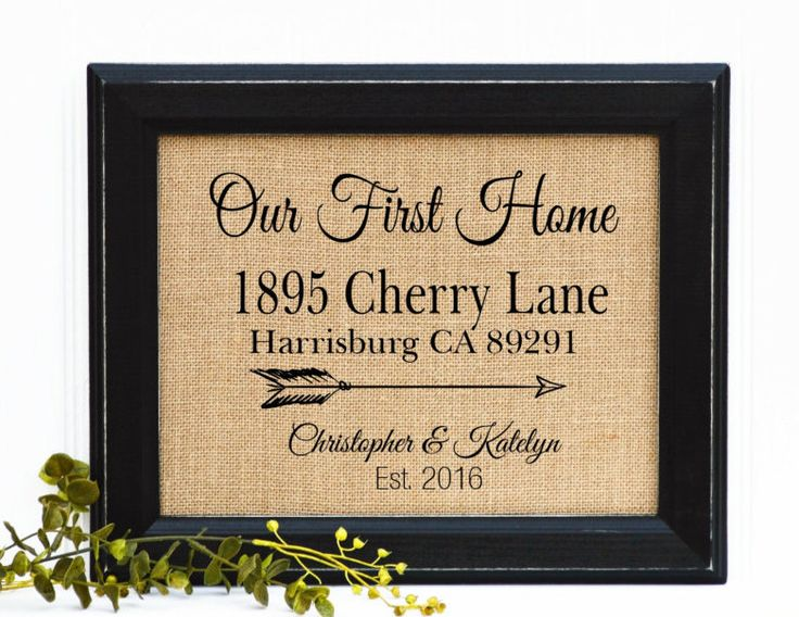 Good New Home Gifts Part - 18: Our New Home, New Home Gift, Realtor Closing Gift, Housewarming Gift, Gift