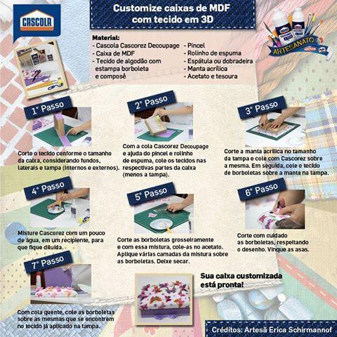 Pap caixa de Borboletas com efeito 3D