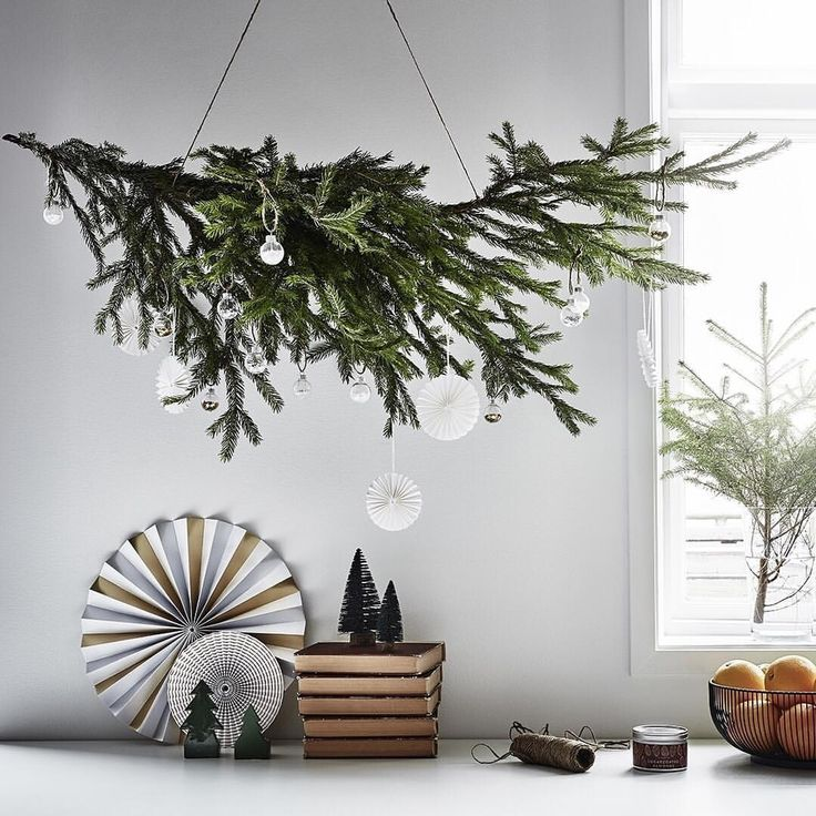 """16 gilla-markeringar, 1 kommentarer - LAGERHAUS (@lagerhaus_ab) på Instagram: """"You don't need a (whole) christmas tree to decorate - hang up a branch and add your favourite…"""""""