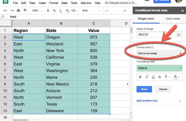 Conditional Formatting Sidebar How To Apply Google Sheets Color Scale