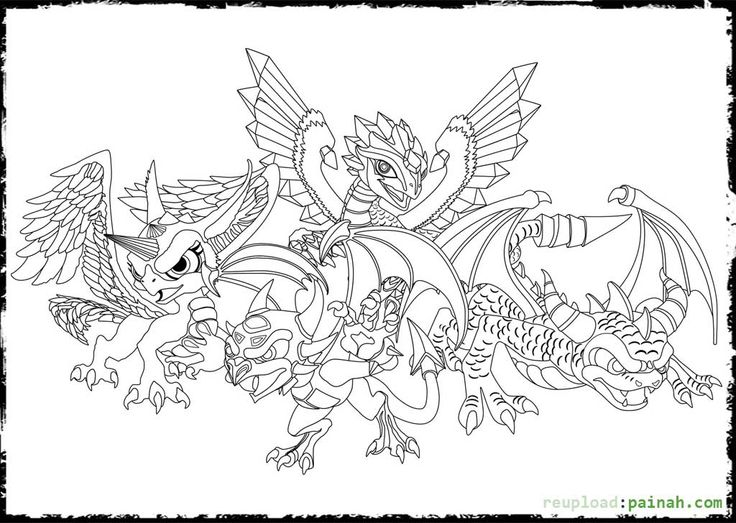Family Dragon Coloring Page