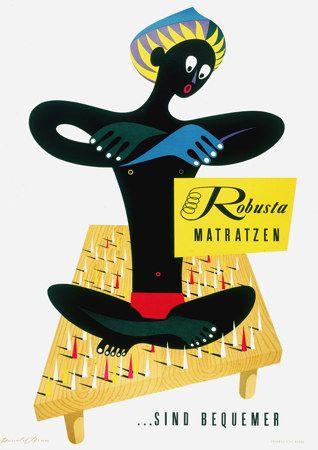 Robusta Mattresses ... are Comfortable c.1950