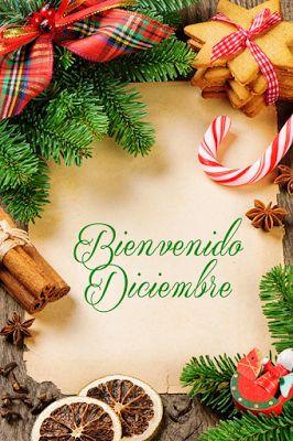 """Banco de Imágenes Gratis: 8 postales gratuitas con mensaje de """"Bienvenido Diciembre"""""""