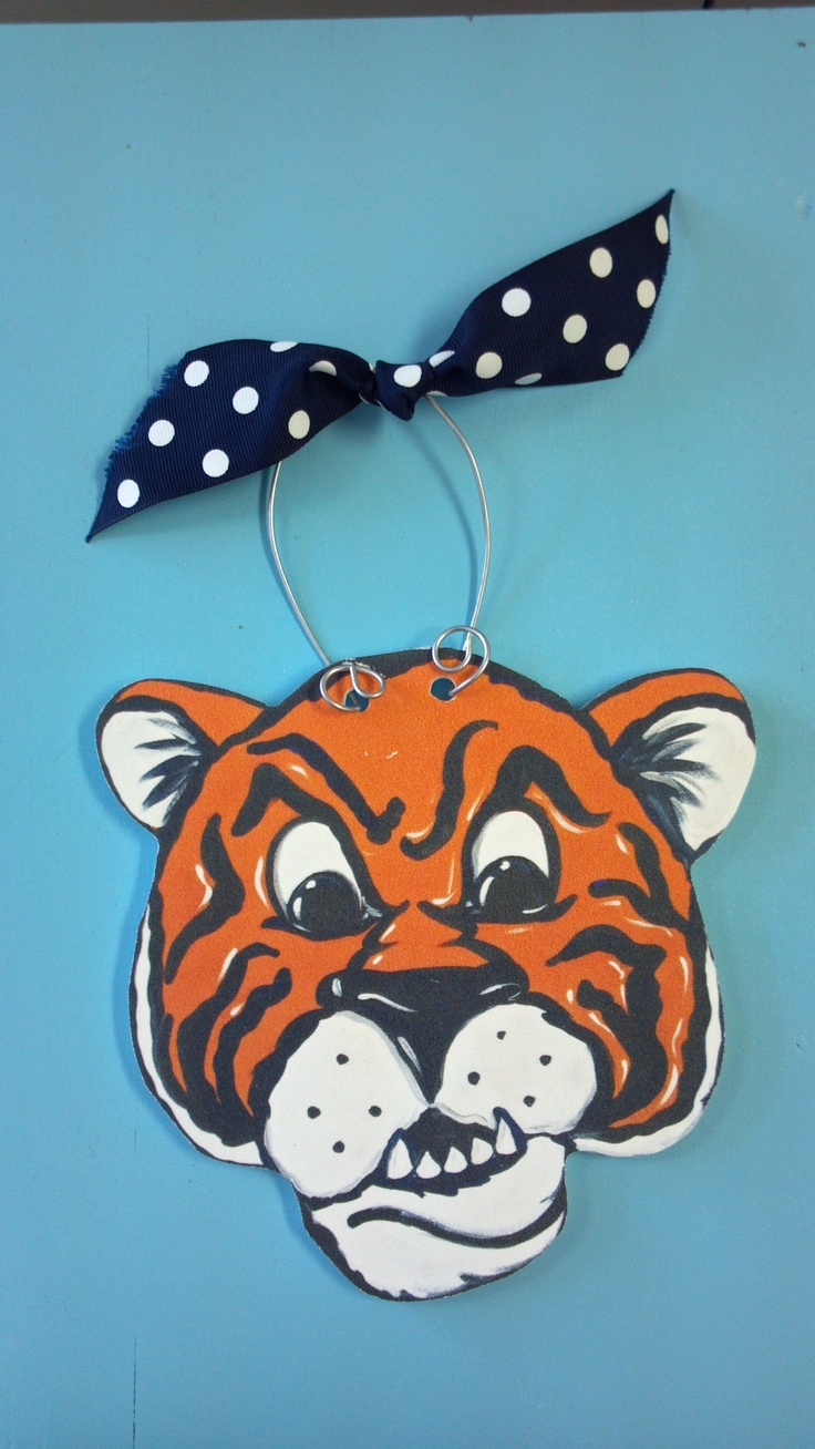 Auburn christmas ornaments - Orange Navy Tiger Ornament