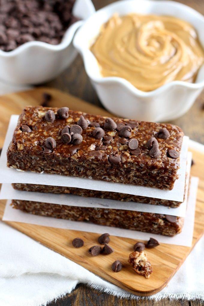 No Bake Chocolate Peanut Butter Granola Bars